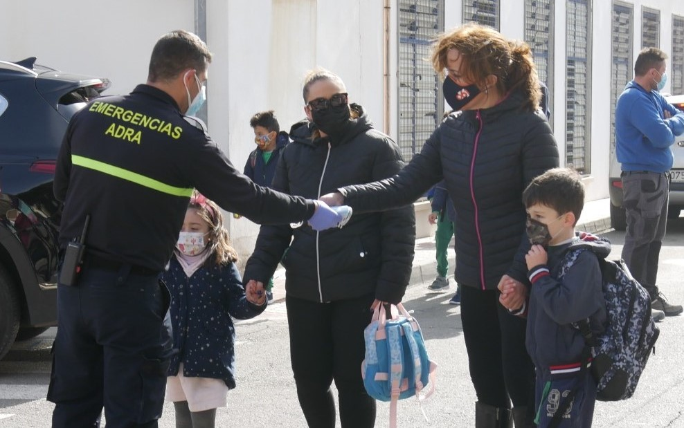 210125 Campaña prevención Covid-19 centros escolares Protección Civil