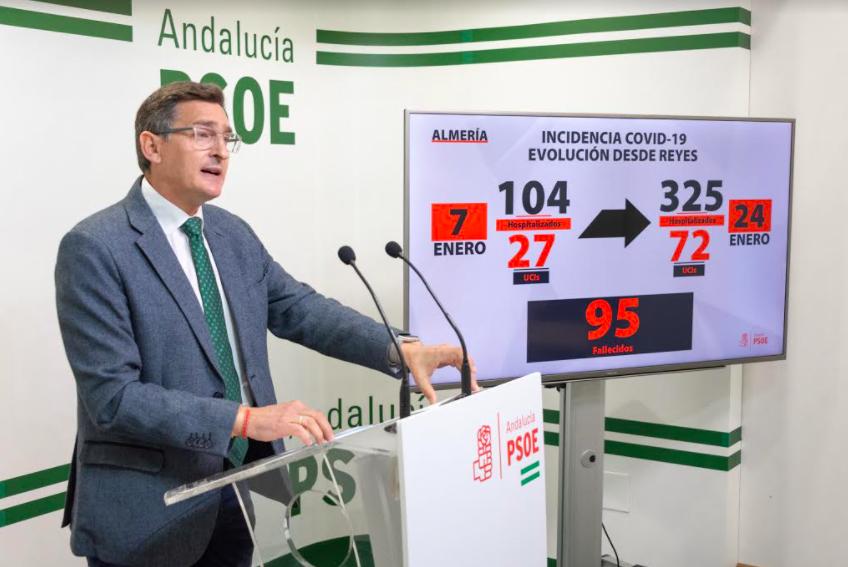 PSOE Almería exige al Gobierno andaluz que supla las funciones que el Ministerio de Sanidad evita