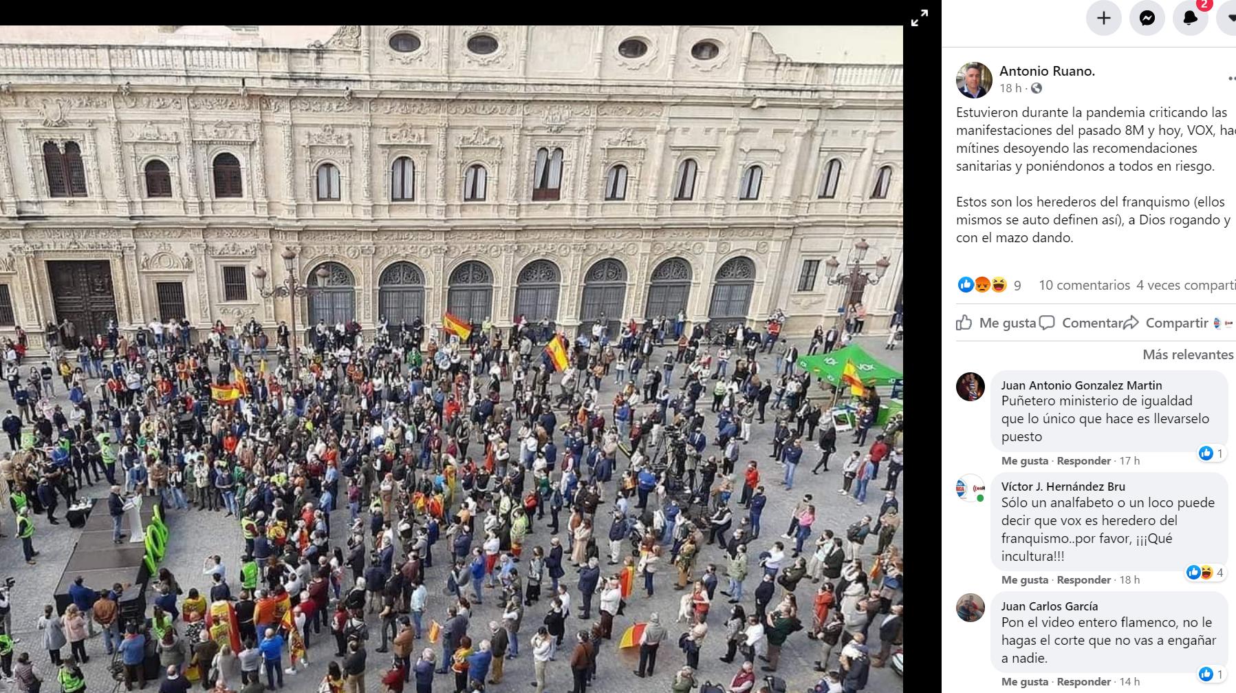 El concejal Antonio Ruano corta y manipula un vídeo de Vox en redes