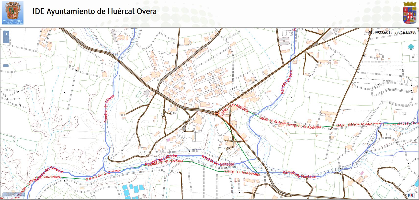 El Ayuntamiento de Huércal-Overa actualiza el visor del inventario de caminos rurales que se puede consultar en la web
