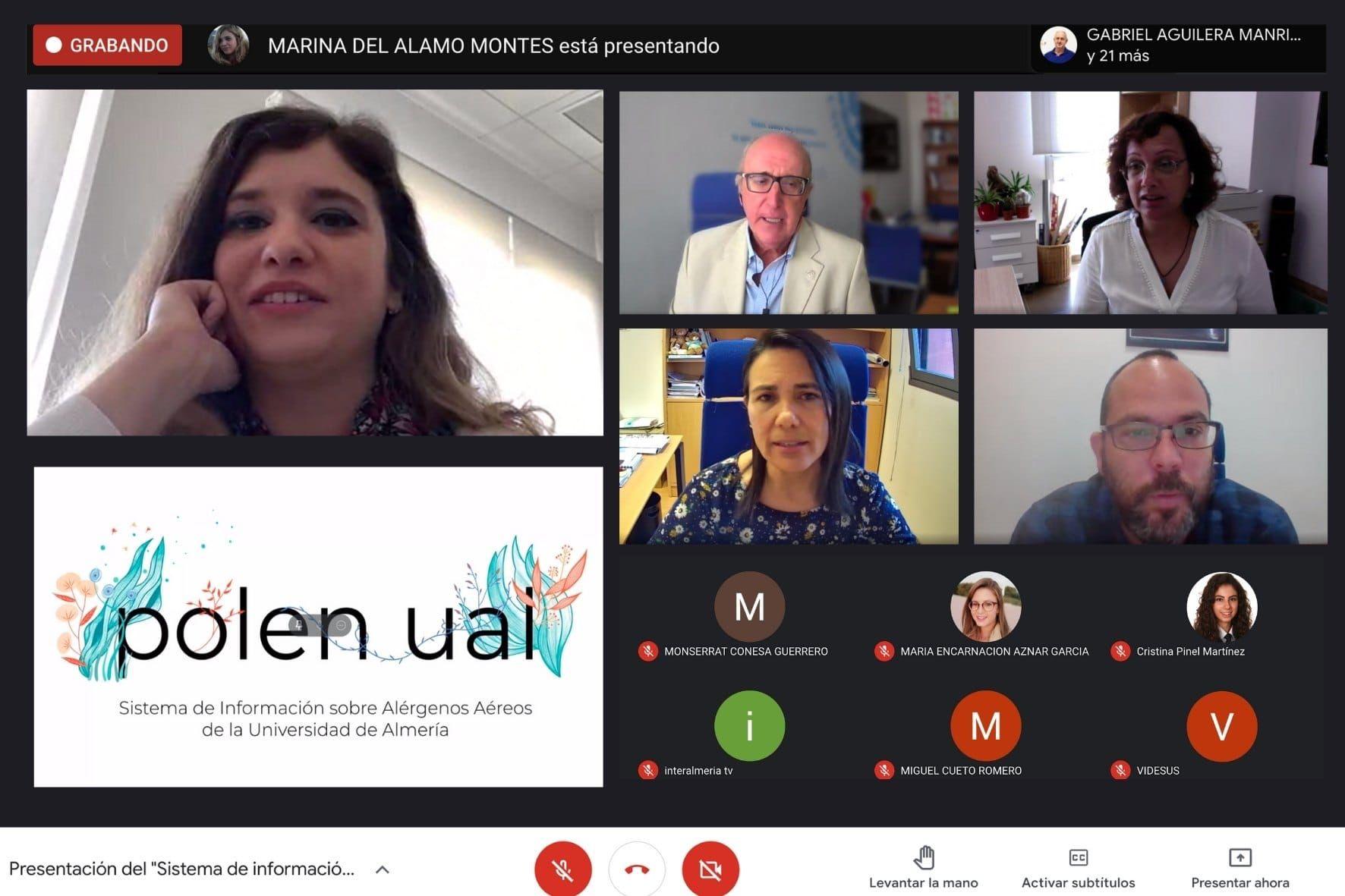 La UAL, universidad española pionera en monitorizar el nivel diario de pólenes alergógenos en su campus