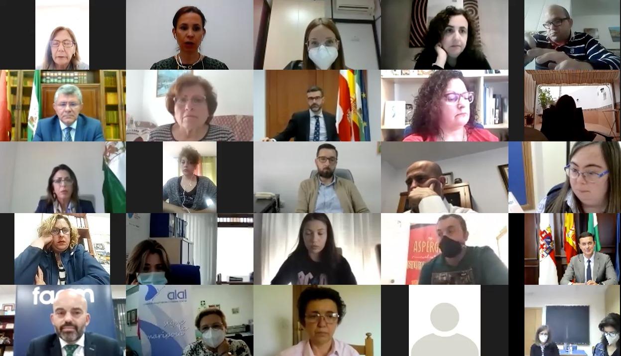 Diputación, Ayuntamiento y Junta apoyan a la FAAM en el Día de la Convención Internacional de los Derechos de las Personas con Discapacidad