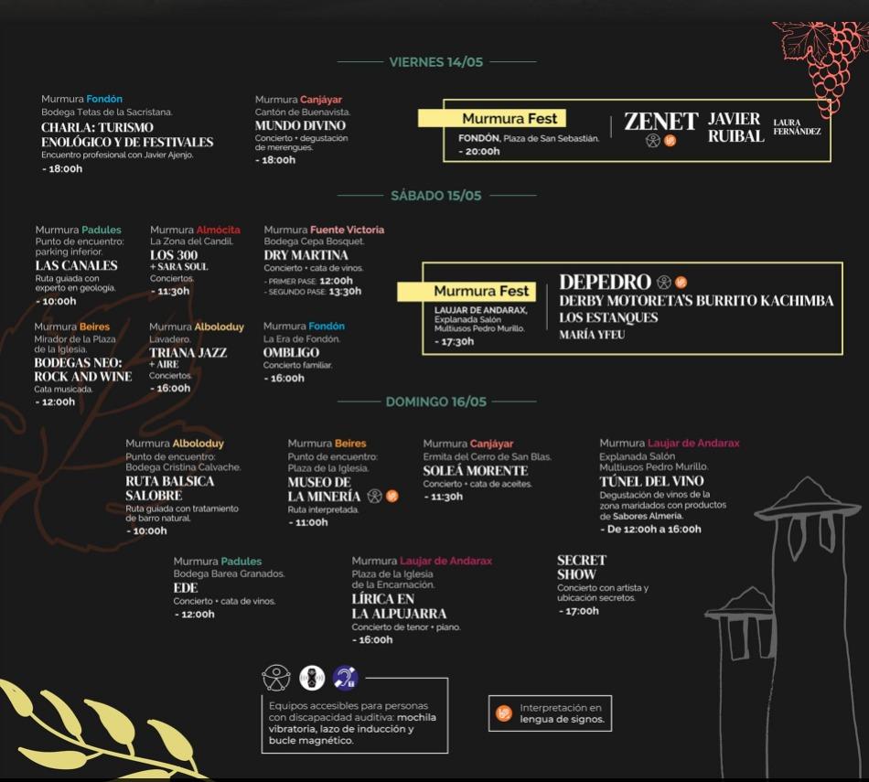 Festival Murmura horarios