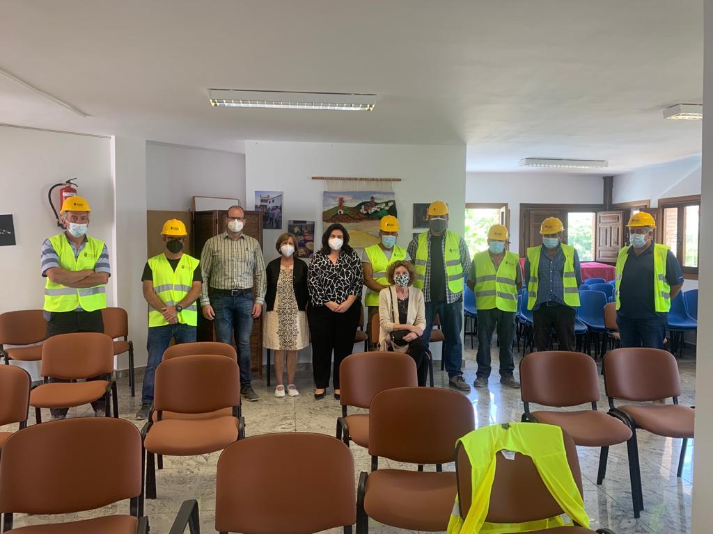 Diputación impulsa en Beires y Bentarique cursos de formación en uso de dumper dentro del PFEA