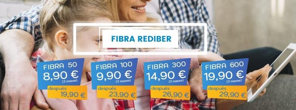 Rediber regala fibra óptica gratis a los clientes de Almería