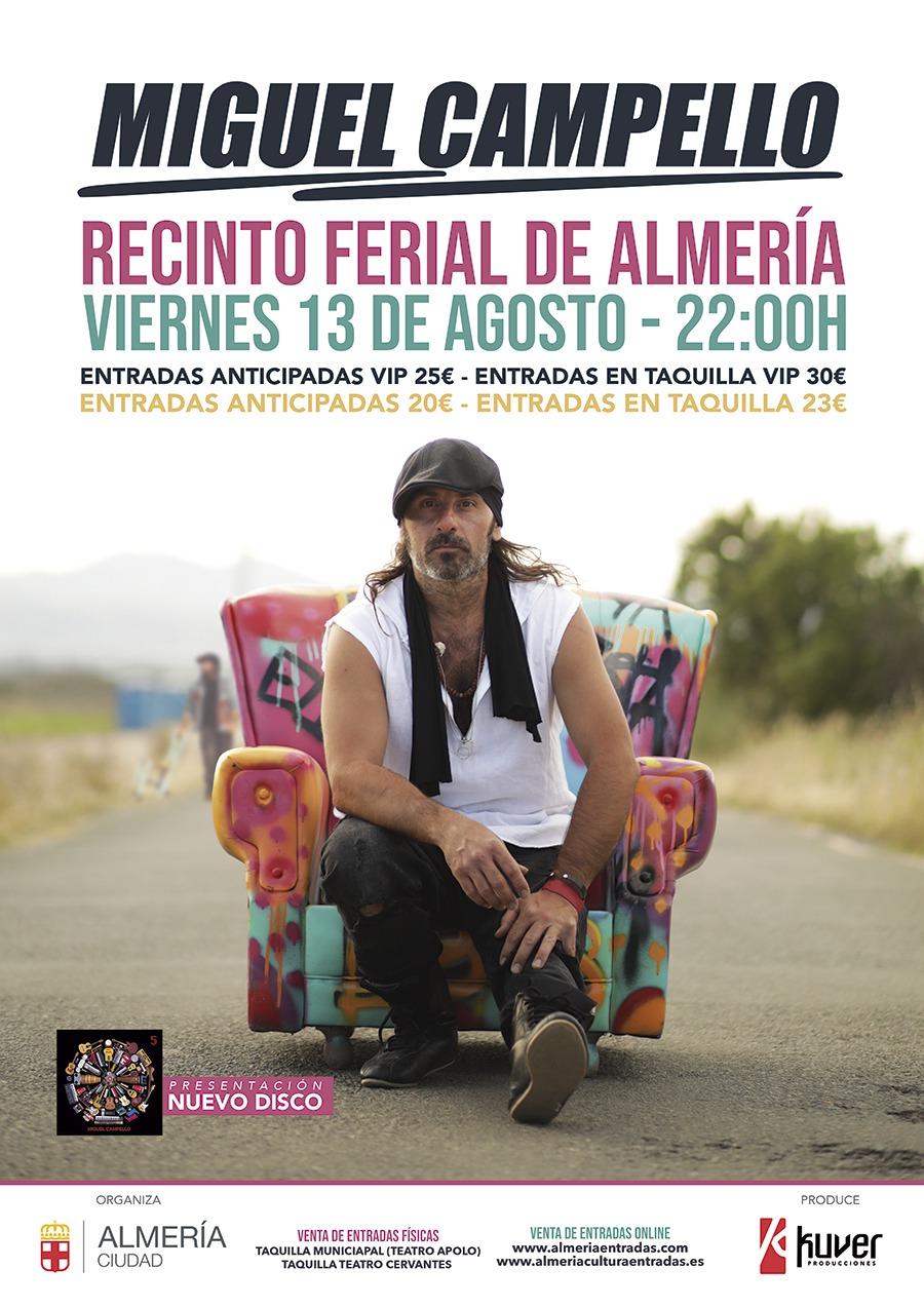 Miguel Campello el 13 de agosto en Almería