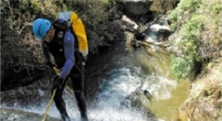 Adra barranquismo en Barranco de Palancón de Paterna del Río